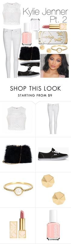 """Kylie Jenner Pt. 2"" by jaekyungshimm ❤ liked on Polyvore featuring Ally Fashion, AG Adriano Goldschmied, Vans, Irene Neuwirth, Rebecca Minkoff, Disney, Tory Burch and Essie"