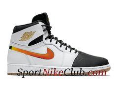 pretty nice 8b71e 59d03 Homme Air Jordan 1 Retro High Chaussures Officiel Jordan Pas Cher Blanc  Noir 819176 104 - 1805070167