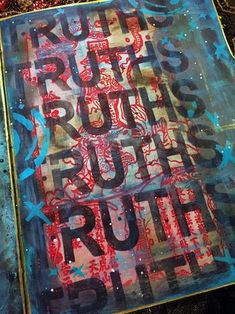 Nov2015 StencilClub - File Folder Art Journal 4a - Gwen Lafleur