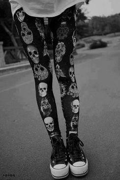 635f89615c304 Panty Tête De Mort, Collants Chaussettes, Fringues, Leggings De Crâne,  Leggings Serrés