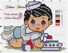 Pinta e Borda (Lidiane Silveira): Bebê Marinheiro