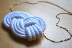 Necklace, rope, tutorial