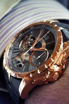 Forget performance, a luxurious watch attached to a wrist just always appears to be a significant enhancement to any wardrobe. Brand names like Rolex and Cartier carry an air of authority that real… Men's Watches, Fine Watches, Luxury Watches, Cool Watches, Fashion Watches, Watches For Men, Watches Online, Men Accesories, Beautiful Watches