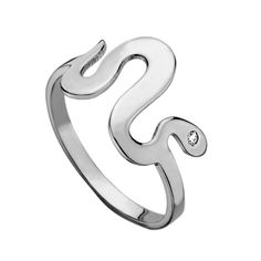 "Horizontal Snake Ring with diamond eye.  Snake is approximately 1/2"".  Available in sizes 5-8 (NO HALF SIZES).  RINGS ARE SPECIAL ORDERS AND CAN TAKE UP TO 4 WEEKS TO SHIP."