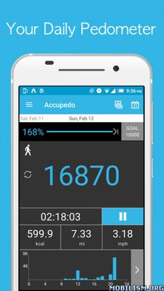 """Accupedo-Pro Pedometer v6.1.3.GRequirements: 4.1+Overview: ★★★ Google Play selects Accupedo pedometer as 2014 Best 30 Apps at Google Play Store in Japan and Korea. [Dec. 2014] """"Accupedo Pedometer Widget made good walking buddies in our last..."""