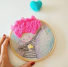 Your place to buy and sell all things handmade Embroidery Designs, Embroidery Hoop Crafts, Hand Work Embroidery, Hand Embroidery Stitches, Cross Stitch Embroidery, Contemporary Embroidery, Sewing Crafts, Creations, Handmade