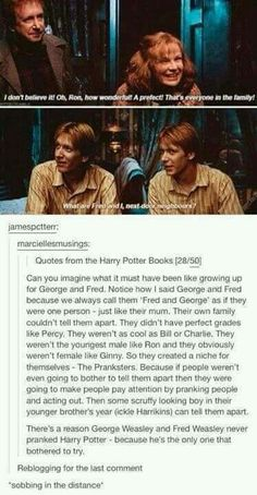 Another reason why I think they would have thrived in Slytherin
