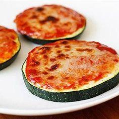 Healthy Snack: Zucchini Pizza Bites.