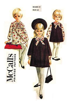 McCall's 7947 Vintage Classic 60s Helen Lee Dress, Coat and Jumper Sewing Pattern Size 6 X