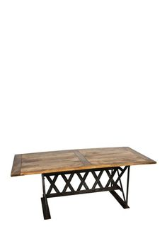 Industrial Dining Table with Metal Base by Modern Vintage Style Furniture on @HauteLook