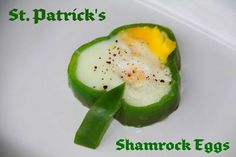 Patrick's Shamrock Eggs and Fruit Rainbows.From Catholic Cuisine. (fruit flowers for kids) Recipe For March, Best Breakfast, Breakfast Fruit, Rainbow Fruit, St Patricks Day Food, Stuffed Green Peppers, Eggs, Favorite Recipes, Guardian Angels