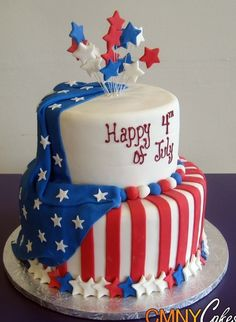 Fourth Of July Birthday Cakes 272 Best Of July Cakes Images On . Fourth Of July Cakes, 4th Of July Desserts, Fancy Cakes, Cute Cakes, Crazy Cakes, Fondant Cakes, Cupcake Cakes, Flag Cake, July Birthday