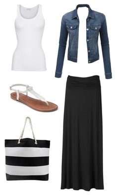 """Summer"" by bussmay on Polyvore featuring AB Studio, LE3NO, American Vintage and Apt. 9"