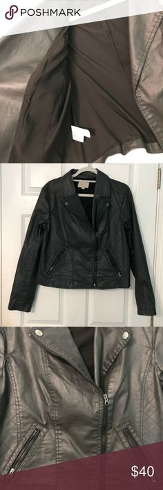 Moto / Biker Jacket Black Moro jacket which would be perfect for a night out with friends! •• Price is FIRM unless bundled  No trading •• Smoke-free home •• Condition: New without Tag! •• Questions about measurements or anything related to the product? Ask below! •• Happy Poshing!! Jackets & Coats