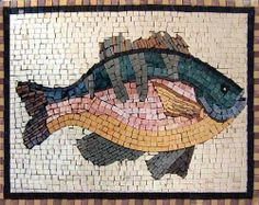 "12x16"" Fish Mosaic Art Tile Wall Floor Pool Decor by Mozaico. $120.00. Design can be customized as to size and / or colors. Uses and display locations are unlimited!. Mesh backing. Completely hand-made. All natural stones. Mosaics have endless uses and infinite possibilities! They can be used indoors or outdoors, be part of your kitchen, decorate your bathroom and the bottom of your pools, cover walls and ceilings, or serve as frames for mirrors and paintings."