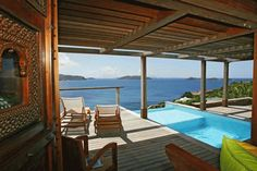 Villa Bayugita - is a beautiful, contemporary villa located in Pointe Milou, St. Barts, with a spectacular view of the sparkling ocean and outlying deserted islands.