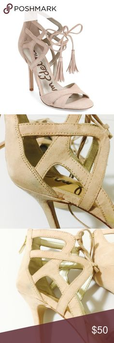 🆕SAM EDELMAN LACE UP TASSLE HEELS NEVE USE SEXY CUTE HEELS OUT OF STOCK SOME DIRT STAIN CAN BE CLEAN SEE PIC BUT LOOK NEW  SIZE 8.5 TASSLE LACE UP HEELS   PLEASE ASK ANY QUESTIONS ❤️❤️NEW INVENTORY❤️❤️  ✅BUNDLE AND SAVE ON SHIPPING 20% OFF ON ANY BUNDLES MY PRICES ARE GREAT AND THERE NWT OR NWOT UNLESS STATED  THERE NAME BRAND SELLING THEM FOR CHEAP✅  ***DONT FORGET TO FOLLOW I DELETE AND RELIST***  # GREAT DEALS Sam Edelman Shoes Heels