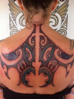Kirituhi is a Māori style tattoo either made by a non-Māori tattooer, or made for a non-Māori wearer. Kirituhi has  mana of it's own and is a design telling the unique story of the wearer in the visual language of Māori art and design. Kiri means 'skin', and tuhi means 'to write, draw,
