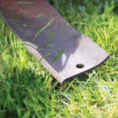 your lawn mower blade is dull. sharpen the blade twice each season to help maintain a green, healthy lawn. a sharp blade not only cuts blades clean so grass plants recover quickly, it helps reduce your lawn mowing time. Lawn Mower Maintenance, Lawn Mower Repair, Sharpen Lawn Mower Blades, Lawn And Garden, Garden Tools, Oregon, Walk Behind Mower, Blade Sharpening, Lawn Equipment