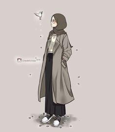 23 best art animasi hijab - my ely Girly Drawings, Anime Girl Drawings, Anime Art Girl, Hijab Drawing, Girly M, Islamic Cartoon, Hijab Cartoon, Islamic Girl, Dibujos Cute