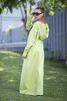 MUÉSTRATE FABULOSA EN ESTA MAXY TÚNICA ATRAPA MIRADAS  Todas Las Tallas Variedos Colores Vestido Túnica Verde Con Capucha -…