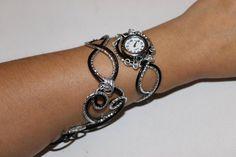 Bracelet montre  Piéce Unique Duo d'aluminium argent et par Zalanya