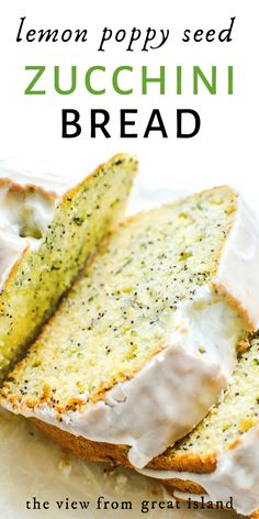 Lemon Poppy Seed Zucchini Bread with crunchy poppy seeds and fresh grated zucchini folded into a moist, lemon scented quick bread. #easy #recipe #zucchini #zucchinibread #lemon #poppyseed #dessert #quickbread #breakfast #loafcake Recipe Zucchini, Zucchini Bread Recipes, Baking Recipes, Beef Recipes, Baking Tips, Recipies, Brunch Recipes, Dessert Recipes, Citrus Recipes