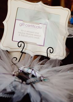 great gift for a shower!  An Organic Bloom frame, Session gift certificate and a Tutu. via Lindsay Brummer Photography