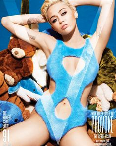 Check out Miley Cyrus in custom Fendi on the 'V' Magazine September cover.