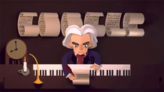 Beethoven's 245th birthday Google Doodle - help him put his famous melodies back in order to get to the concert hall!