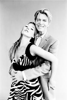 Kate Moss and David Bowie by Ellen von Unwerth in Vogue UK, 2003