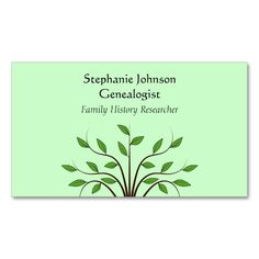 1447 best elegant tree business cards images on pinterest business genealogist genealogy tree custom business card 2 colourmoves