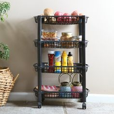 Every room needs this organizing rolling cart! Great for crafts, kitchen, bath, office, the garage, and more.