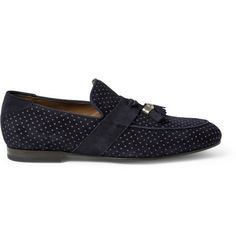 Shop men's loafers at MR PORTER, the men's style destination. Discover our selection of over 400 designers to find your perfect look. Suede Loafers, Loafers Men, Mens Designer Loafers, Mens Slip On Shoes, Mr Porter, Jimmy Choo, Tassel, Dark Blue, Men's Fashion