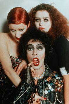 "Glam ou punk rock? Na foto, casting do filme ""Rocky Horror Picture Show""!"