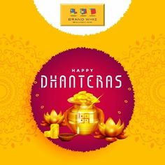May the divine blessings of Lakshmi ji shower health, wealth & prosperity on all of us Team Brand Whiz wishes you all a Happy Dhanteras. Happy Dhanteras Wishes, Happy Lohri, Wishes Messages, Wishes Images, Diwali Status In Hindi, Dhanteras Images, Youtube Happy, Happy Diwali Images, Diwali Celebration