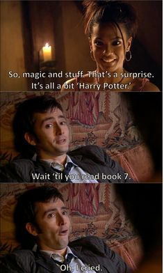 I laughed so hard it's ridiculous!  The Doctor, Harry Potter references and Shakespeare all in one episode..I was a mess haha.