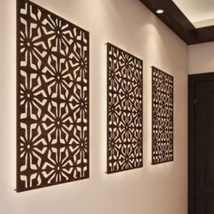 A hot trend in the Indian market — laser cut wood panels or jali design — has taken homes and commercial spaces by storm. Steel Gate Design, House Gate Design, Door Gate Design, House Front Design, Wood Design, Laser Cut Screens, Laser Cut Panels, Laser Cut Wood, Wood Partition