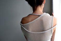 Light beige transparent okapi sweater by okapiknits - perfect Summer wear