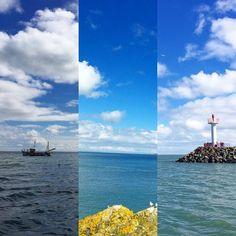 Stesso mare e stesso cielo a distanza di qualche minuto e fotografano da direzioni diverse... Questi blu e azzurri a contrasto con il giallo del muschio e il grigio delle rocce è la cosa che più mi ha ispirata e fatto innamorare! Non c'è molto da dire solo da guardare! ------------------------------------ El mismo mar y el mismo cielo a distancia dé pocos minutos y tomando fotografías desde diferentes direcciones... Estos azul  y índigo en contraste con las rocas grises y el musgo amarillo…
