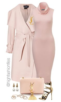 """Baby Pink"" by highfashionfiles ❤ liked on Polyvore featuring mode, Salvatore Ferragamo, Yves Saint Laurent, Giuseppe Zanotti, Wet Seal et Fallon"