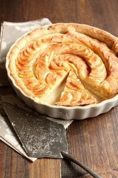 This amazing recipe for Apple Tart with Almond Paste Filling has a hidden layer of delicious homemade almond paste under the apples.