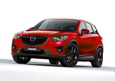 Special edition #Mazda #CX5 from #Tokyo #Auto #Salon. Features include:  SKYACTIV® engine, transmission, body; special red exterior paint; matte black alloys; lowered, sport-tuned suspension