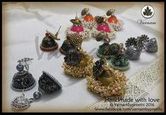 This was one super loot for Ramya Shankar that I had fun in making :) #handmadelove #jhumkas #jhumkaloot #varnambypreethi #quilledjhumkas #chennai #accessories #earrings #jewelry #paper