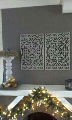 Grijs/ zilver gespoten deurmat