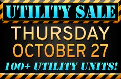 Utility sale at Ocean State Auto Auction Thursday, October 27. Join us in the lanes or online at www.osautoauction.com