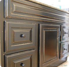 Bathroom Cabinet Facelift