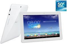 "Tablette tactile Asus MeMO Pad 10 ME102A-1A018A 10,1"" 16Go BLANCHE prix promo Darty 249.00 € TTC"