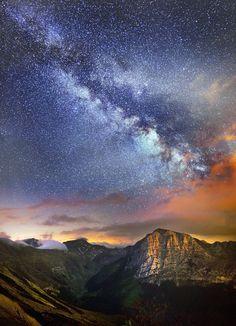evening, night, clouds, milky way, long exposure, epic shot