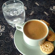 Biscuits and a tasty coffee